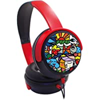 Trands Kids Headphones Over-Ear Kids Headset with 3.5mm Plug Microphone Foldable and Wired Headphone for Children Good…