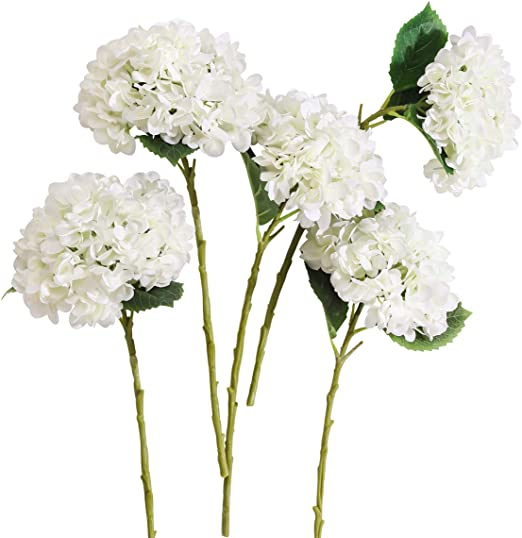 Amazon Com Party Joy 5pcs Artificial Hydrangea Silk Flowers