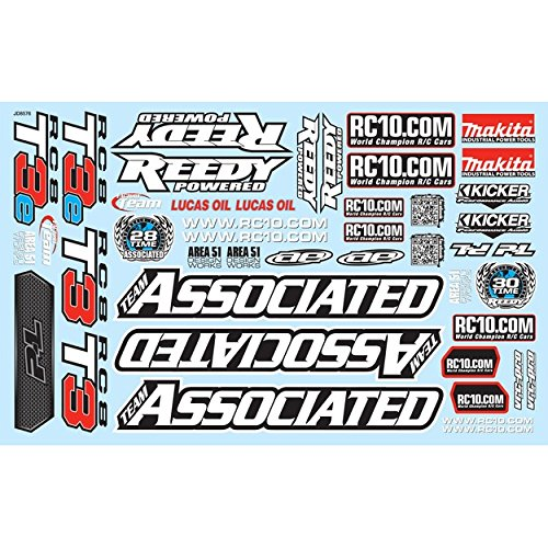 Associated 81325 Decal Sheet RC8T3/T3e
