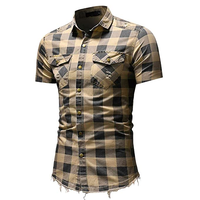 Camisa De Hombre,Winwintom Camisas Cuello Alto De Estampadas Blusas De Trabajo,Camisas Hombre
