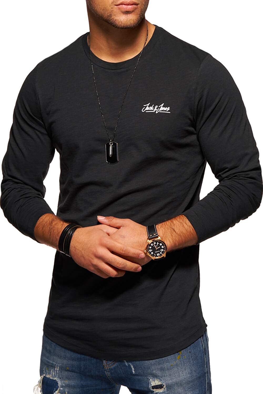 JACK /& JONES Herren Basic O-Neck Tee L//S Noos Langarmshirt
