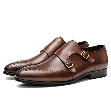 molto carino e87b0 5ad48 LYMYY Uomo Monk strap scarpe sociale Business Scarpe brogue ...