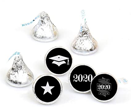 108 Graduation Hershey Kiss Labels Round Stickers Personalized Party Favors 2019