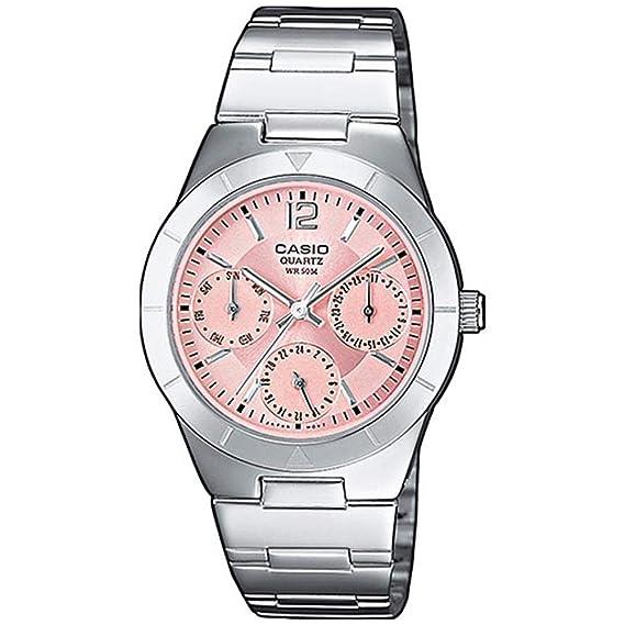 bda70553d46f Casio Reloj Multiesfera para Mujer de Cuarzo con Correa en Acero Inoxidable  LTP-2069D-4AVEF  Amazon.es  Relojes