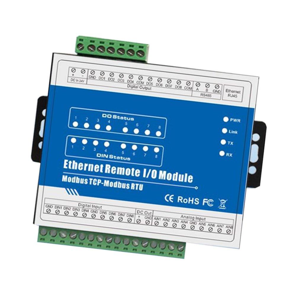 Fenteer 高性能 M160T Modbus TCP  イーサネットリモートモジュール IOモジュール (8DI+8DO+8AI+RJ45+RS485)   B07CNY1YCC