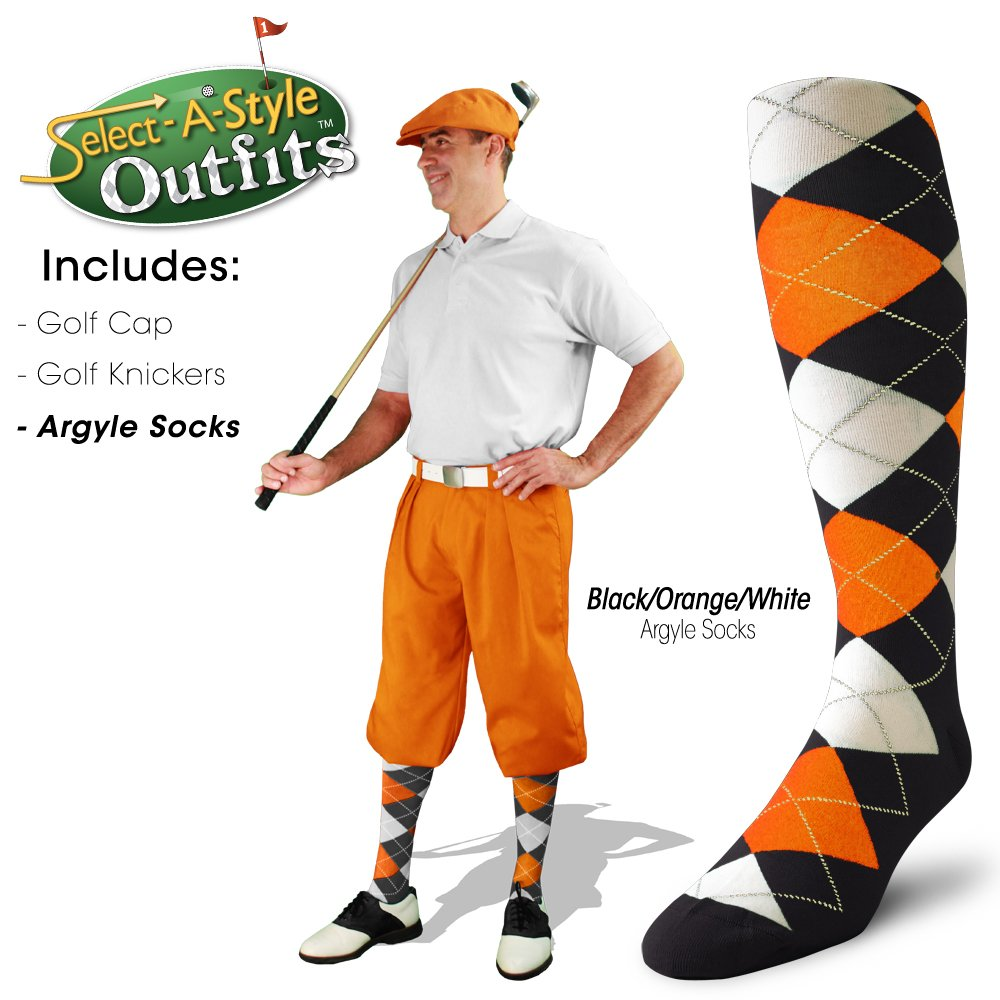 Golf Knickers Mens Select-A-Style Outfit - Orange - Waist 32 - Sock - NY/OR by Golf Knickers (Image #6)