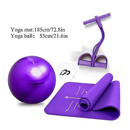 Qinmo Estera de Yoga Acolchada Grande para Pelota de Yoga ...
