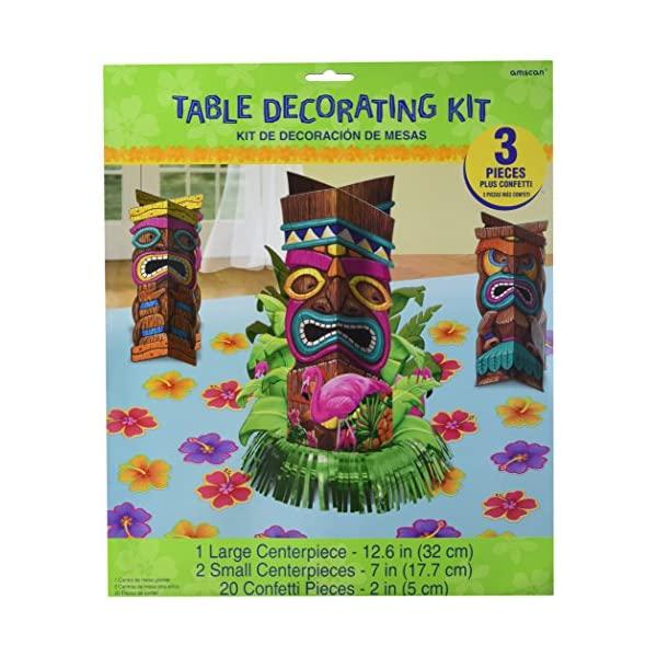 f0745207b0efe Amscan Sun-Sational Luau Party Tropical Tiki Table Decorating Kit -  Beachfront Decor