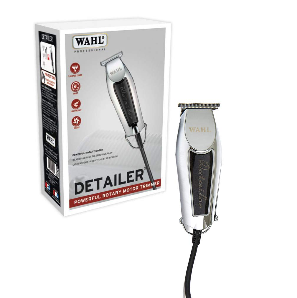 Wahl Professional Detailer 8290 Powerful Rotary Motor Equipped with T-Blade For Lining and Artwork