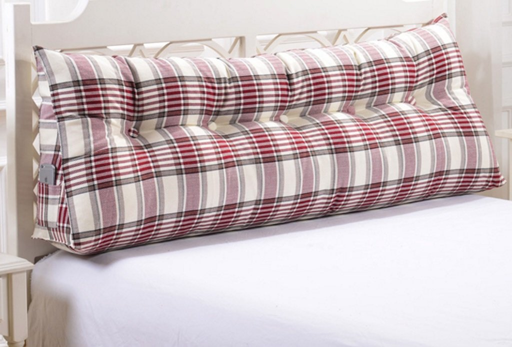Linen Triangle Cushion Stripe Soft Package Bed Back Pad Size Diverse Optional ( Color : B , Size : 20050cm ) by GFL (Image #2)