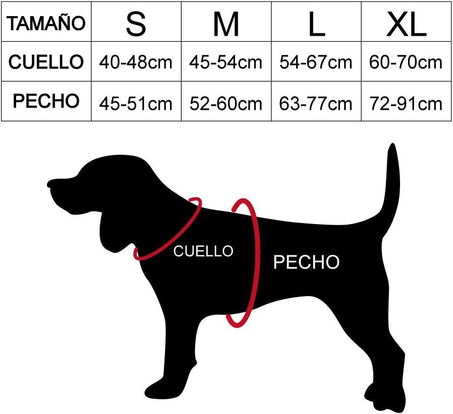 DZL Arnés antitiro para Perro (M, Amarillo) M:Cuello 45-54cm Pecho ...