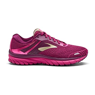 251553a6b0d Brooks Women s Adrenaline GTS 18 Pink Plum Champagne 8 B US  Amazon.co.uk   Shoes   Bags