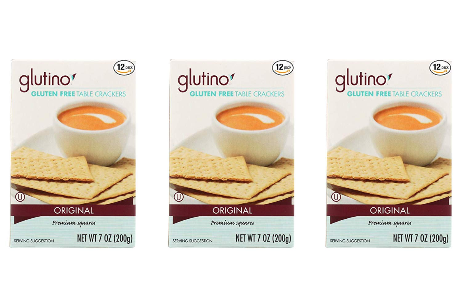 Glutino Table Crackers 7-ounce Boxes (Pack of 12) (3 Pack) by Glutino (Image #1)