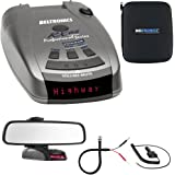 Beltronics RX65 Red Professional Series Radar/Laser Detector w/ Mirror Mount Kit Includes, RadarMount Radar Detector Mirror Wire Power Cord & Car Mirror Mount Bracket For Radar Detectors