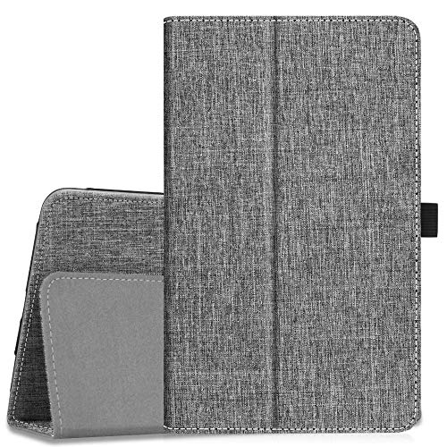 Fintie Folio Case for Samsung Galaxy Tab A 8.0 2018 Model SM-T387 Verizon/Sprint/T-Mobile/AT&T, Slim Fit Premium Vegan Leather Stand Cover, Denim Sandstone