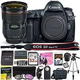 Canon EOS 5D Mark IV 30.4 MP Digital SLR Camera (Wi-Fi, GPS Enabled) PROFESSIONAL PHOTOGRAPHER Lens Kit with EF 24-70mm f/2.8L II USM Lens & Premium Camera Works Accessory Bundle