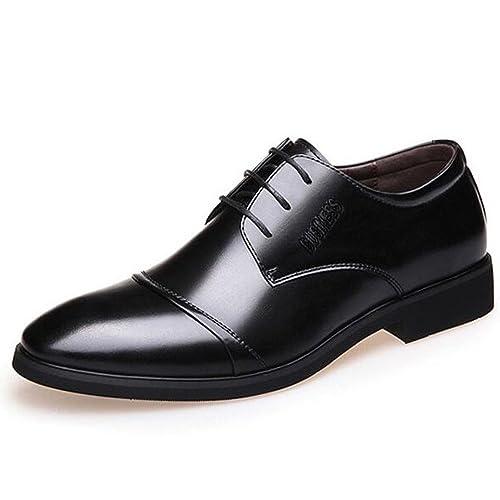Scarpe da Uomo in Pelle Scarpe Eleganti da Lavoro in Pizzo Scarpe Casual  alla Moda Derby Smart  Amazon.it  Scarpe e borse fe49745ac52