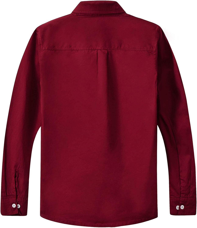 Boys Short Sleeve Burgundy Shirt Button Down Collar Twill Fabric Size 10-16 New