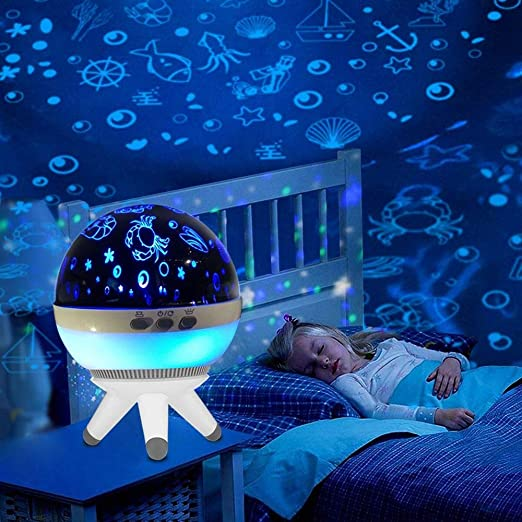 ZHENWOFC 1W Romántico LED Rotativo Océano Proyector Luz Nocturna ...