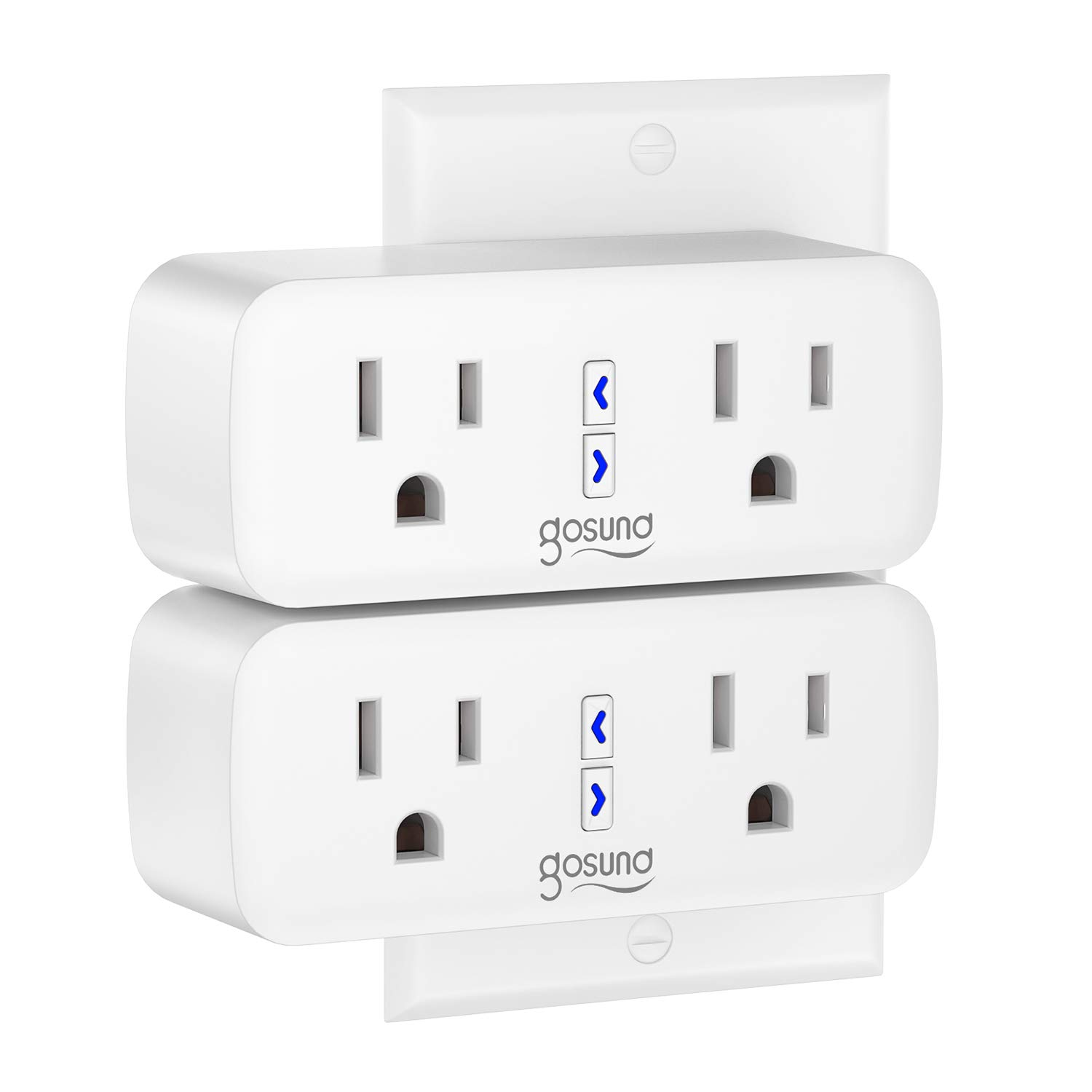 Smart Plug Gosund WiFi Outlet Extender Dual Socket Plugs Works with Alexa Google Home, Schedule and Timer, Control Independently or Together, 10A, No Hub Required, FCC Listed (2 Pack): Industrial & Scientific