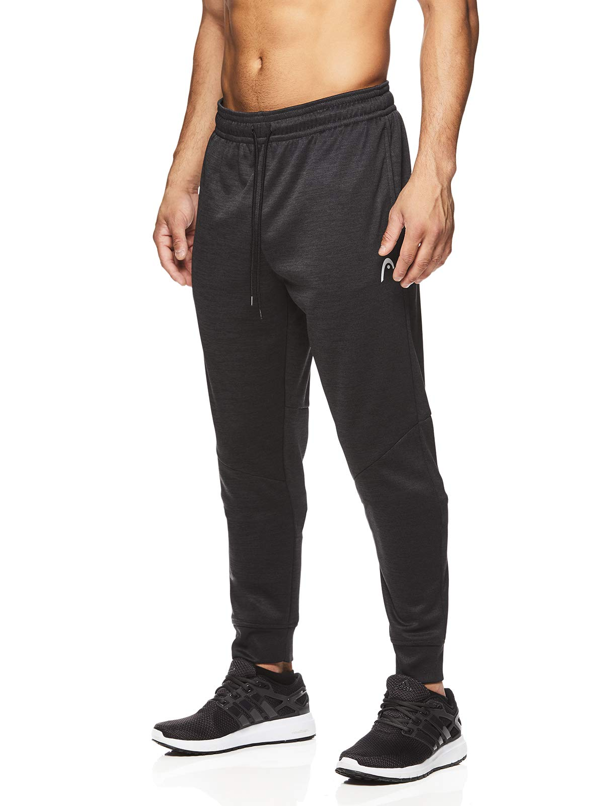HEAD Men's Jogger Activewear Pants - Performance Workout & Running Sweatpants - Pro Black Heather, Small
