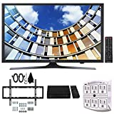 Samsung UN49M5300 49-Inch Full HD Smart LED TV w/ Wall Mount Bundle Includes, Slim Flat Wall Mount Ultimate Bundle Kit, HD Digital TV Tuner & SurgePro 6-Outlet Surge Adapter w/ Night Light