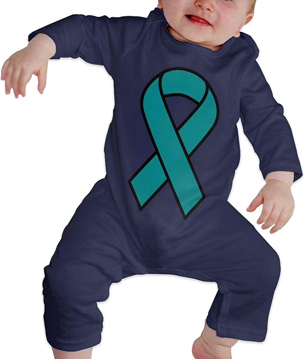 Amazon Com Babyqin Teal Ovarian Cancer Ribbon Child Fashion Jumpsuit Bodysuit Jumpsuit Outfits Jumpsuit Casual Clothing Clothing