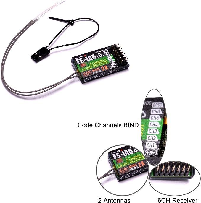 2x Flysky FS-iA6 2.4G 6CH Receiver W// Double Antenna for FS-i4 i6 US Supplier