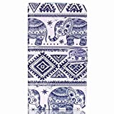 Moto X Play Case, Chinstyle Motorola Moto X Play Case PU Leather Wallet Case Magnetic Closure Tribal Cute Elephants Pattern Flip Cover