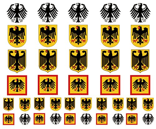 Germany Coat of Arms Eagle Flag Temporary Tattoos, German Party -