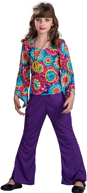 EraSpooky Disfraz Vestido de Hippie Ama la Paz Para Niña: Amazon ...
