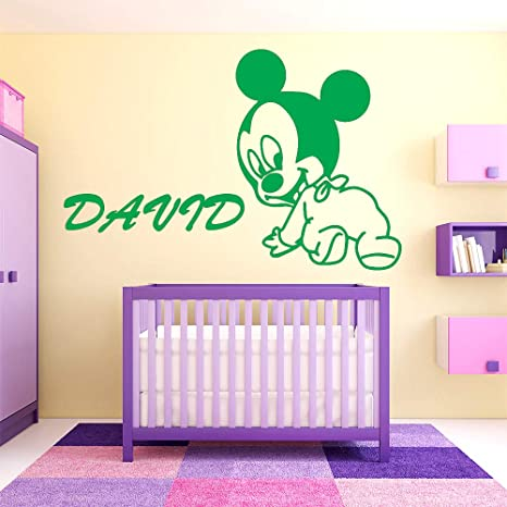 DIY Art Cartoon Movie Cute Baby Lovely Mouse Nombre personalizado ...