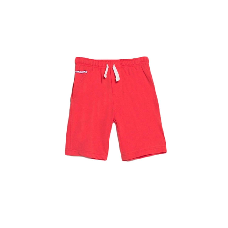 Bossini School Boys Solid Drawstring Knit Shorts Size 4t - 16