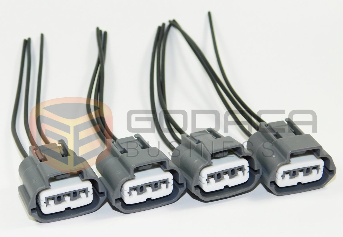 4 X Plug Connector Harness Pigtail For Nissan And Mazda Ford Mustang Headlight Switch Electrical With Wiring Ignition Coils 3 Way Automotive