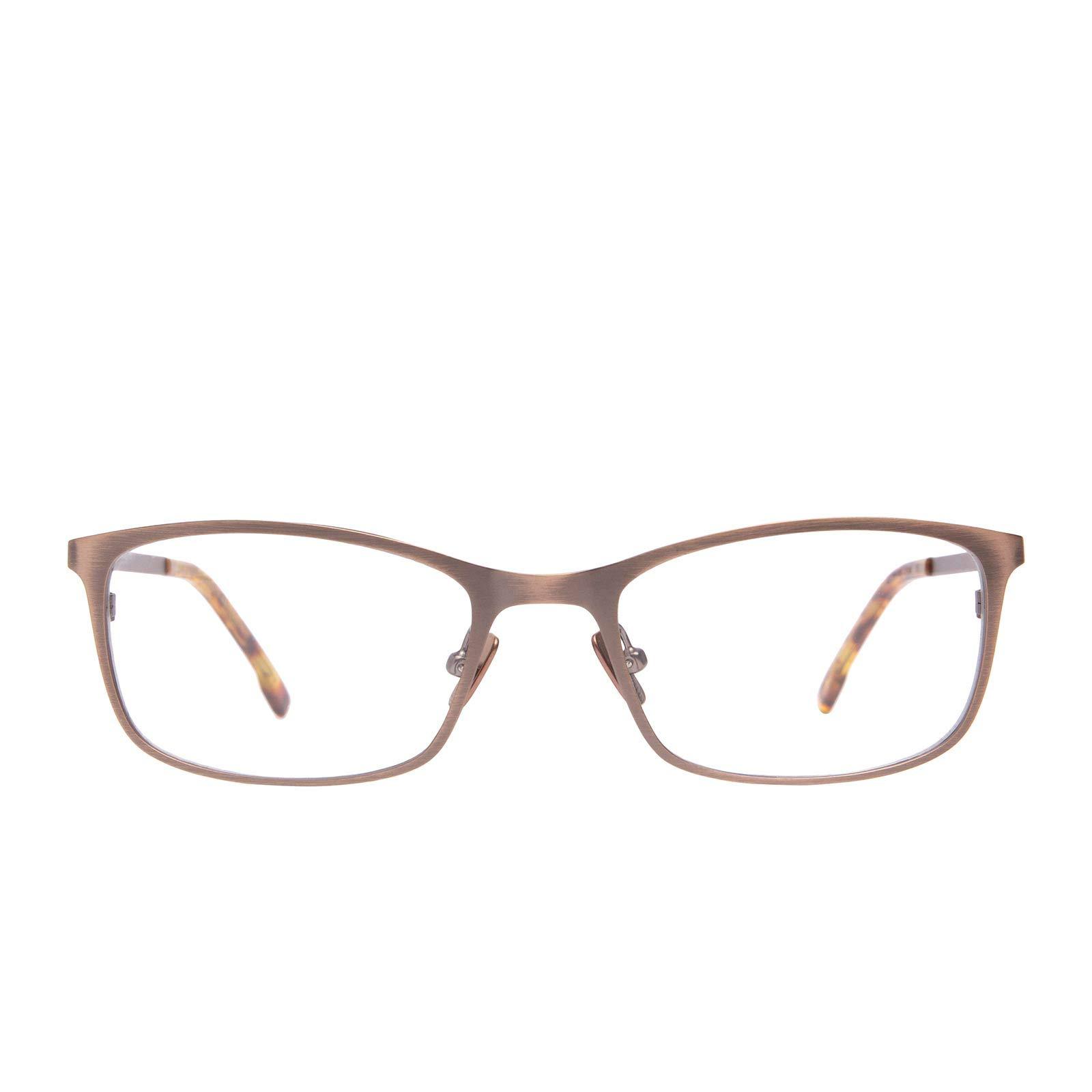 DIFF Charitable Eyewear - Bernie - Designer Blue Light Blocking Glasses - HEV Light Diffusing UV400 Transparent Lens, Prevents Eye Strain, Improves Sleep