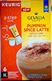 Gevalia Pumpkin Spice Latte and Espresso K Cup Pods with Latte Froth Packets, 6.17 Ounce