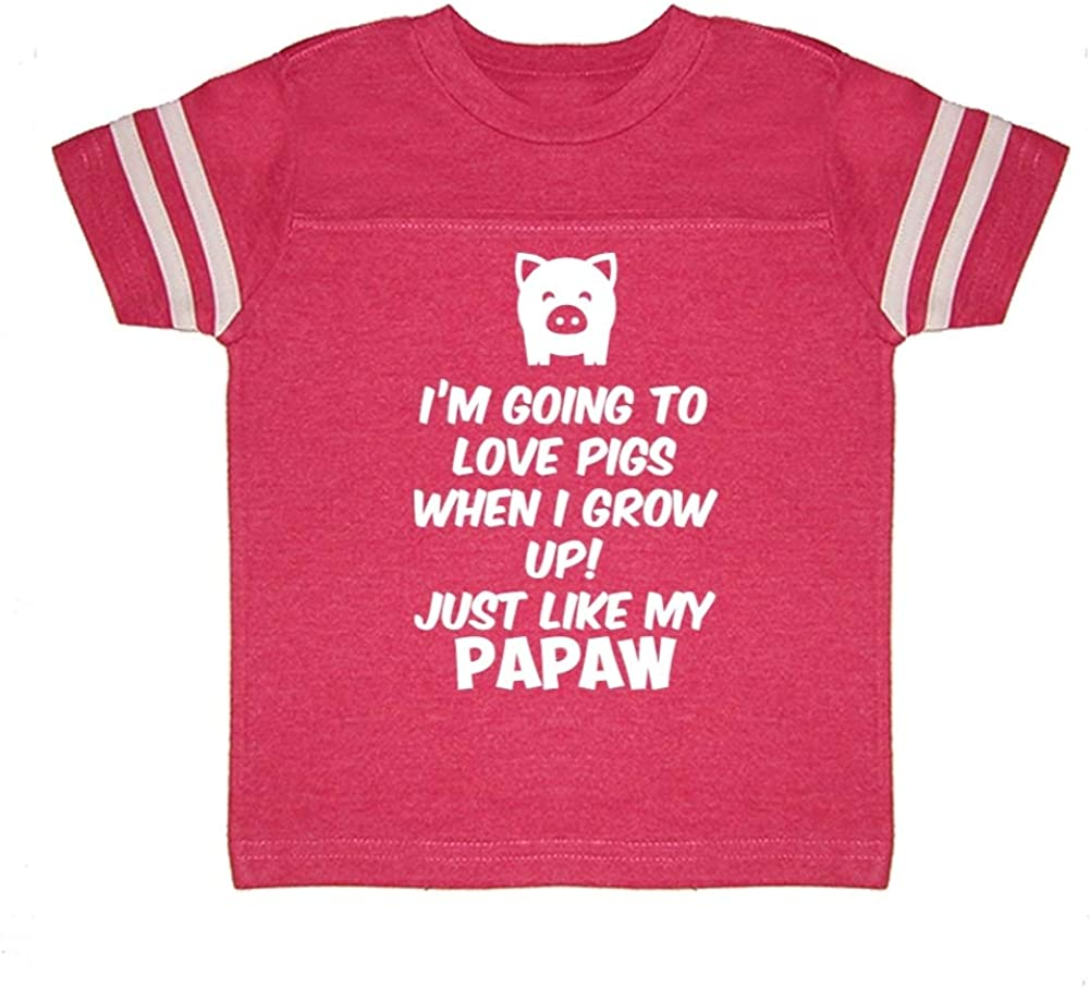 Toddler//Kids Sweatshirt Just Like My Pop Im Going to Love Pigs When I Grow Up
