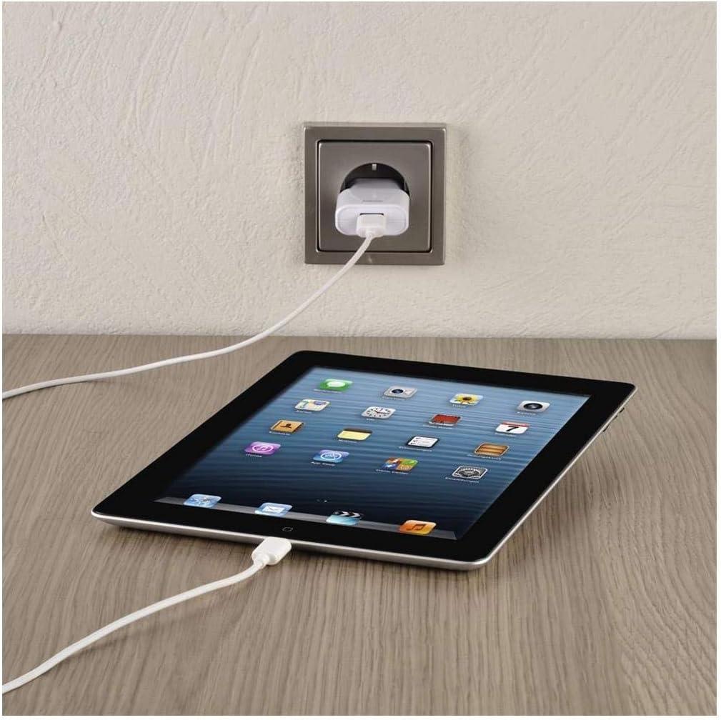 blanc Hama Kit chargeur de voyage pour Apple iPad Lightning 5 V//2,4 A
