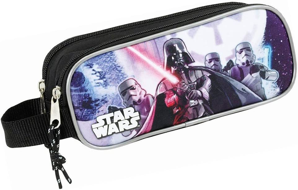 Star Wars Estuche portatodo Doble (SAFTA 811701513), Color Negro, 21 cm: Amazon.es: Juguetes y juegos