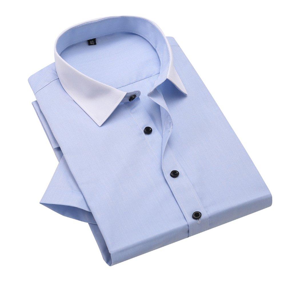 Bmeigo Uomo no stiro Slim Fit manica corta Camicie classiche -H06 1704B06