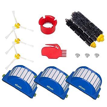 eBasic Kit de repuesto para iRobot Roomba 585 595 600 610 620 Serie 650 Juego de piezas de repuesto para aspiradoras: Amazon.es: Hogar