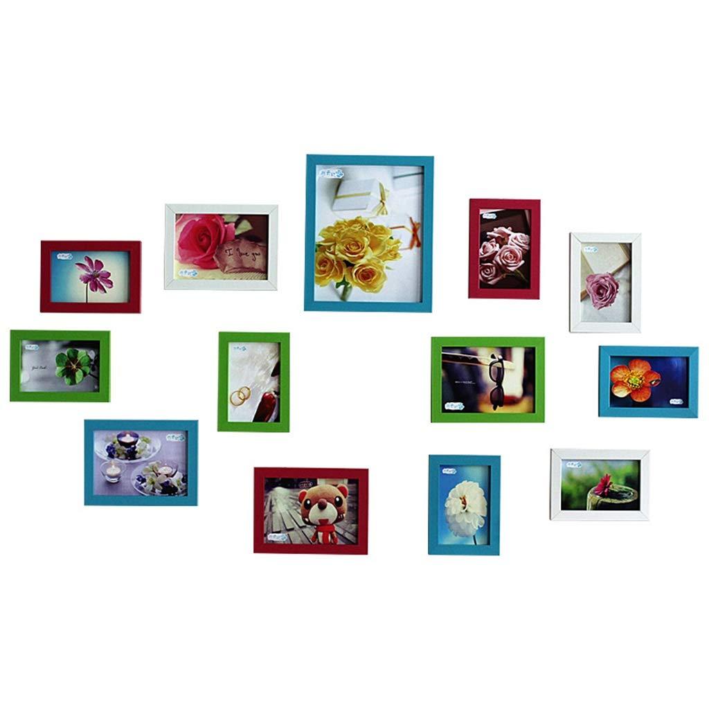 Unbekannt Foto Wanddekoration Kinderzimmer Bilderrahmen Wand Kreative Wohnzimmer Moderne Minimalistische 13 Rahmen Wandbehang 10 Jahre Juni 7 Zoll Kombination (Color : COLOUR1)