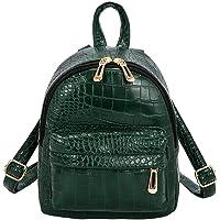 AFFECO Women Alligator Pattern Leather Backpacks Casual Crossbody Shoulder Bags