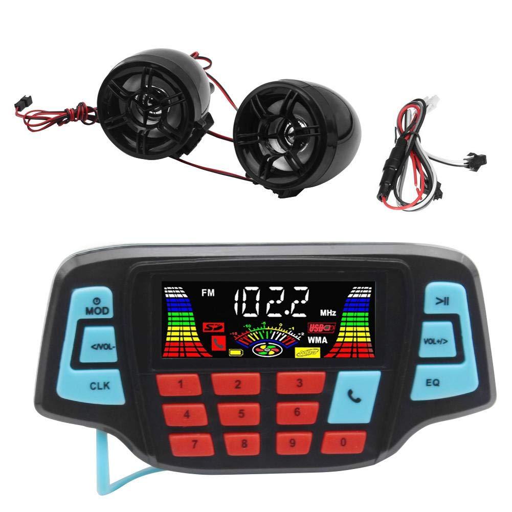 Motorcycle Handlebar Audio System, Waterproof Motorcycle Audio System USB TF Bluetooth FM Radio MP3 Speakers