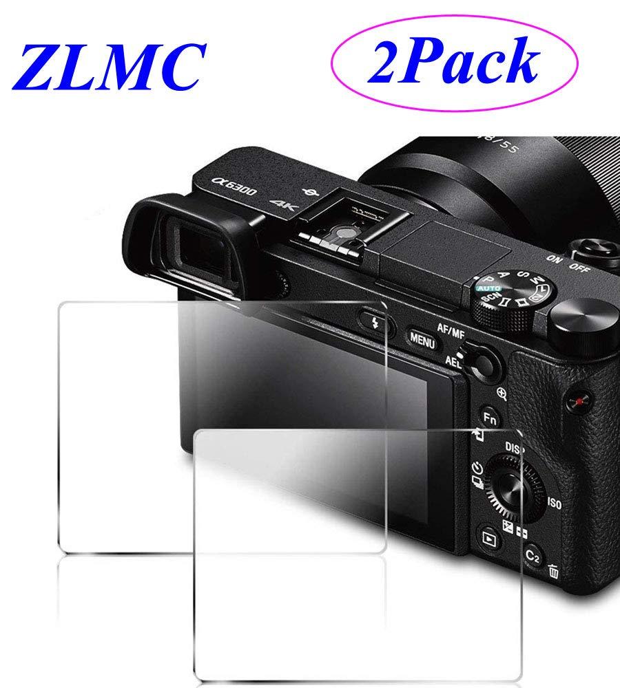 ZLMC Screen Protector Compatible Sony Alpha A6000 A6300 Nex-7 NEX-6 NEX-5 A5000 DSLR Camera, Tempered Glass 9H Cover【2Packs】 Tempered Glass 9H Cover【 2Packs】