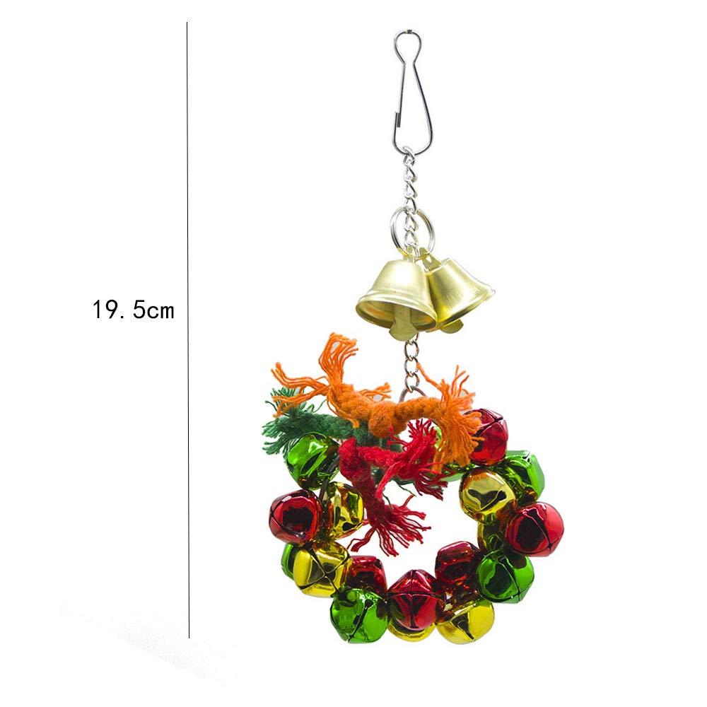 JLCYYSS Parrot Garland Toy, Bird Swing Toys with Bells Colgando ...