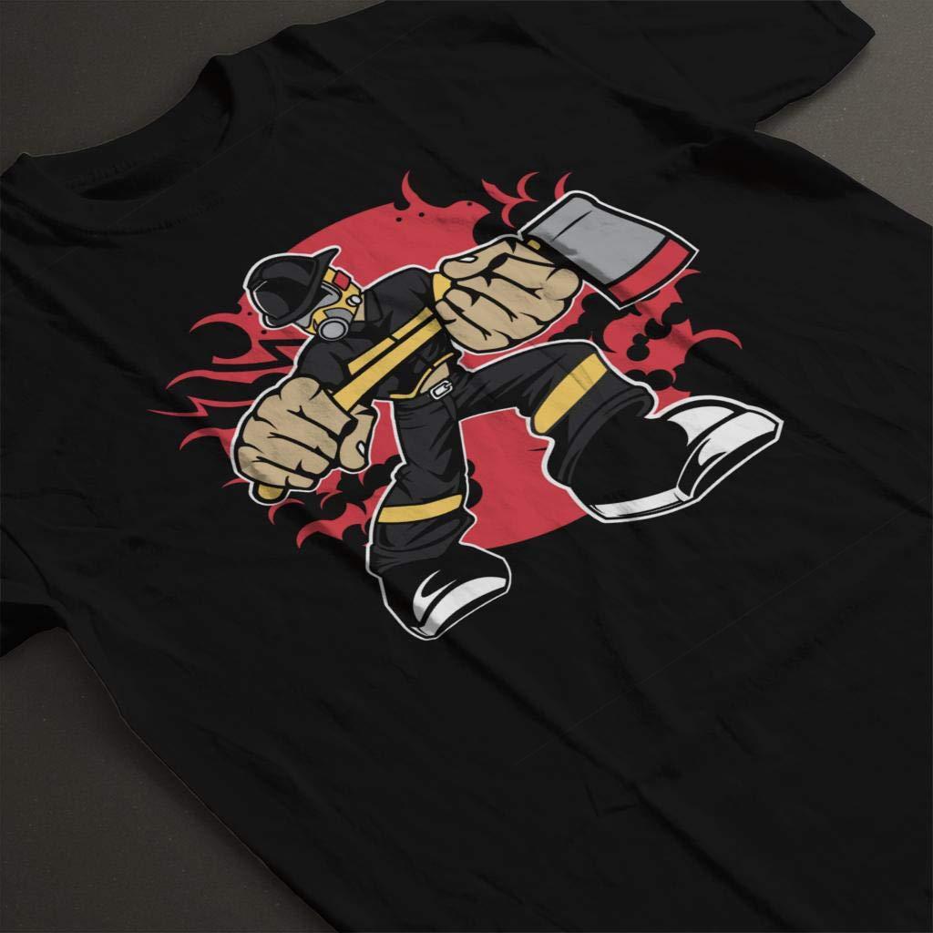 Cartoon Fireman Kids T-Shirt
