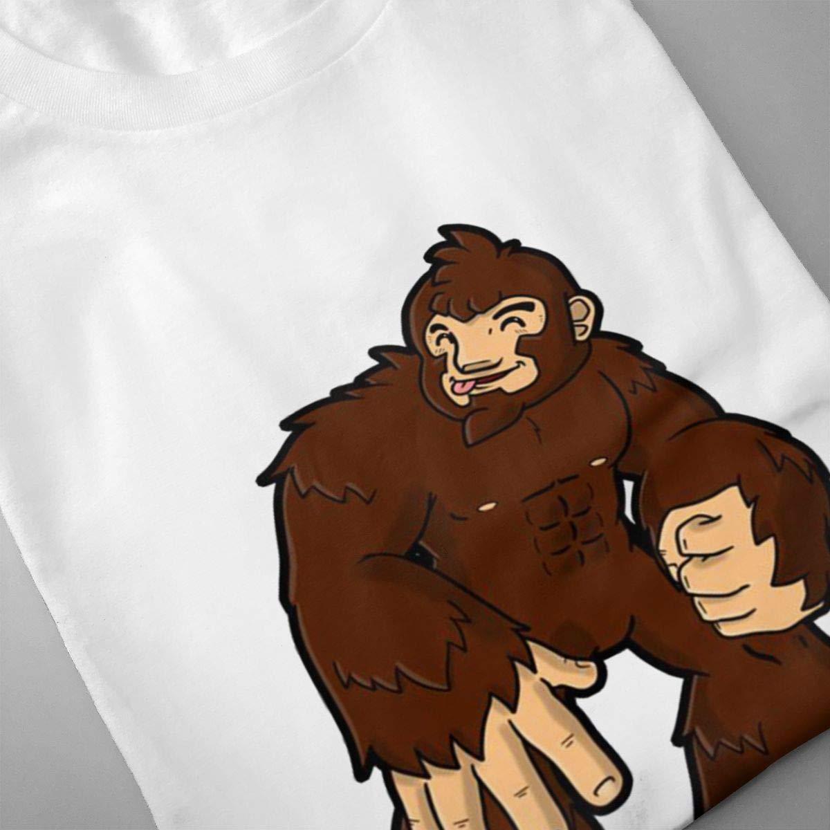 Chouven Mens Bigfoot Sasquatch Short Sleeve Shirts