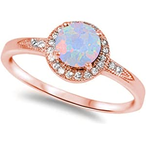 Official Website Clear Cz Oval Blue Lab Opal Halo Ring New .925 Sterling Silver Band Sizes 4-12 Fashion Jewelry