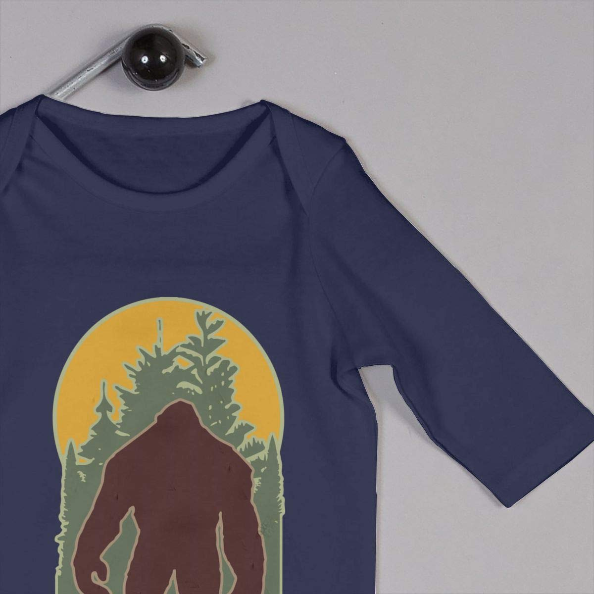 LBJQ8 Woodsy Bigfoot Newborn Kids Baby Boys Sleep and Play Bodysuit Sleepwear
